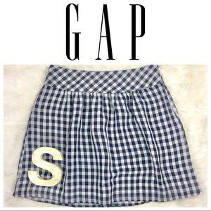 ⬇️$14 Gap Blue Checked Waist Pleat Skirt Size 2